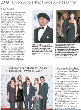 Epoch Times, Jan 15, 2009