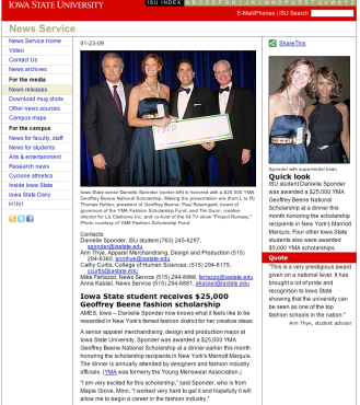Iowa State News Service, Jan 23, 2009